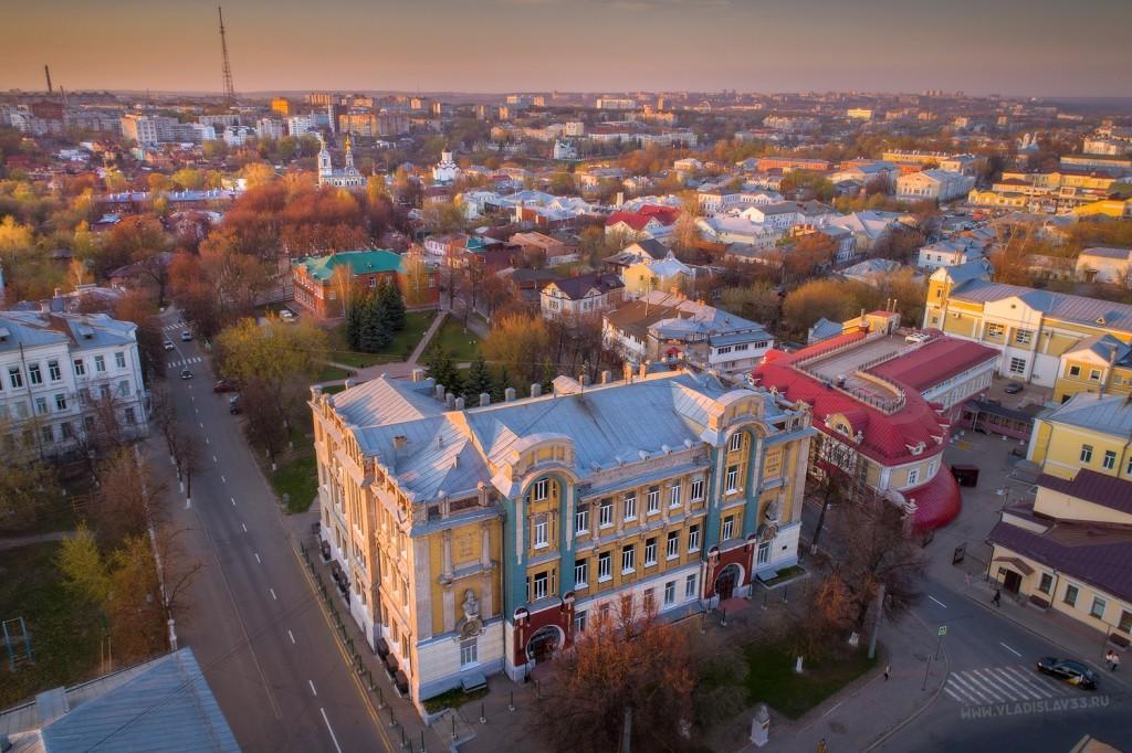 Владимирский государственное педагогический университет с высоты