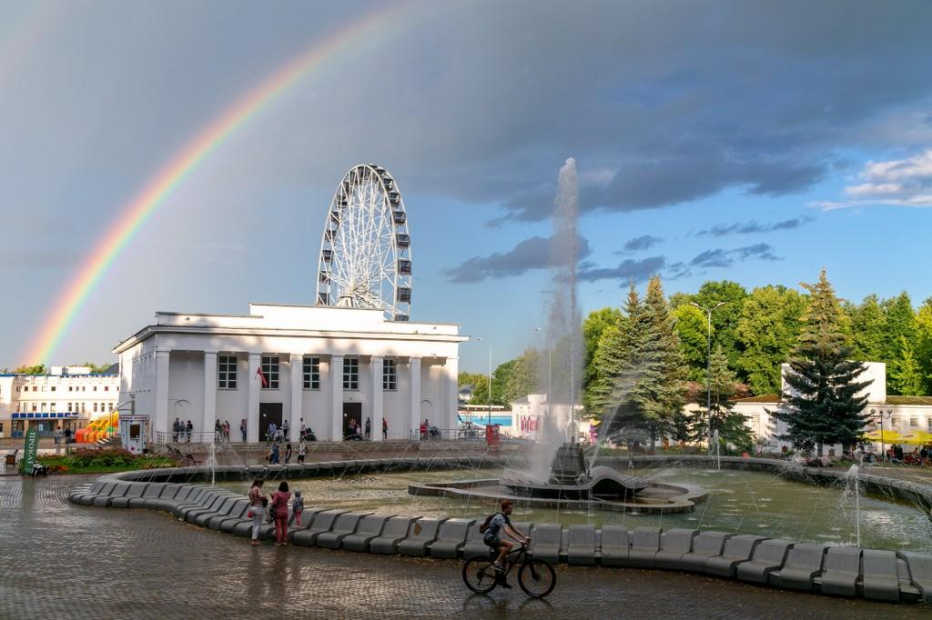 Прекрасная радуга над Владимиром 02