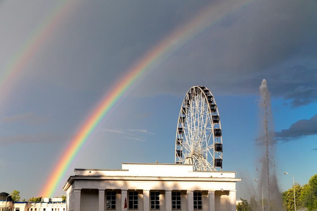Прекрасная радуга над Владимиром 03
