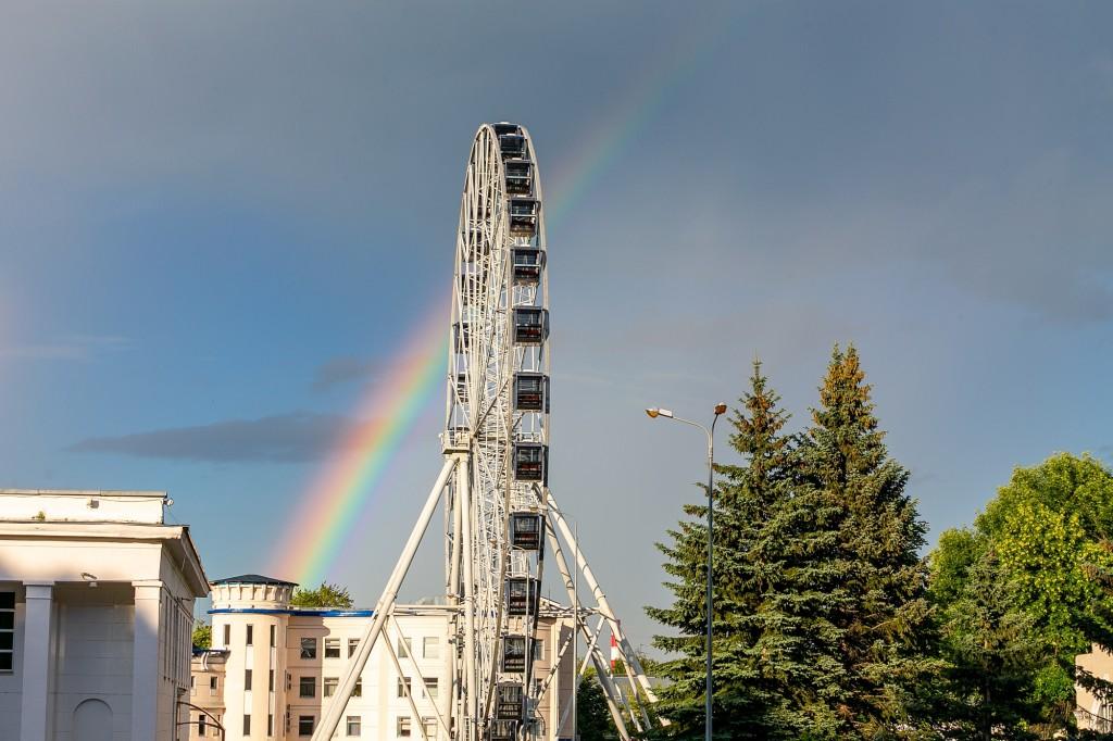 Прекрасная радуга над Владимиром 05