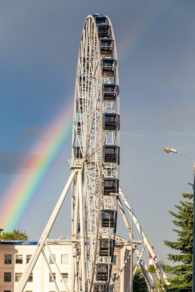 Прекрасная радуга над Владимиром 06