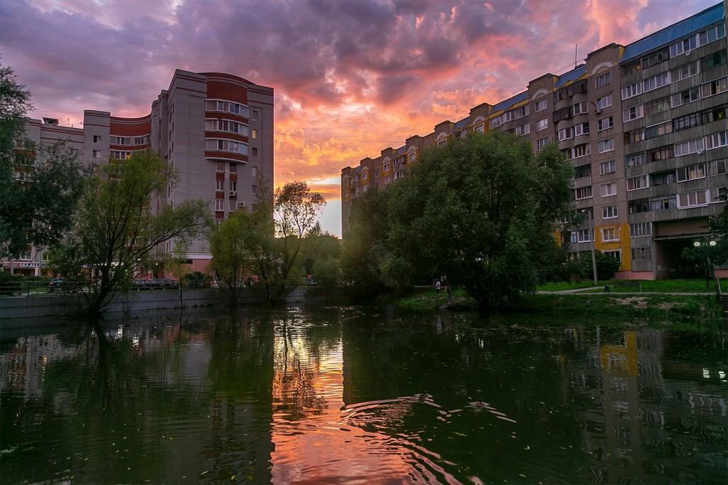 Невероятный закат во Владимире 01