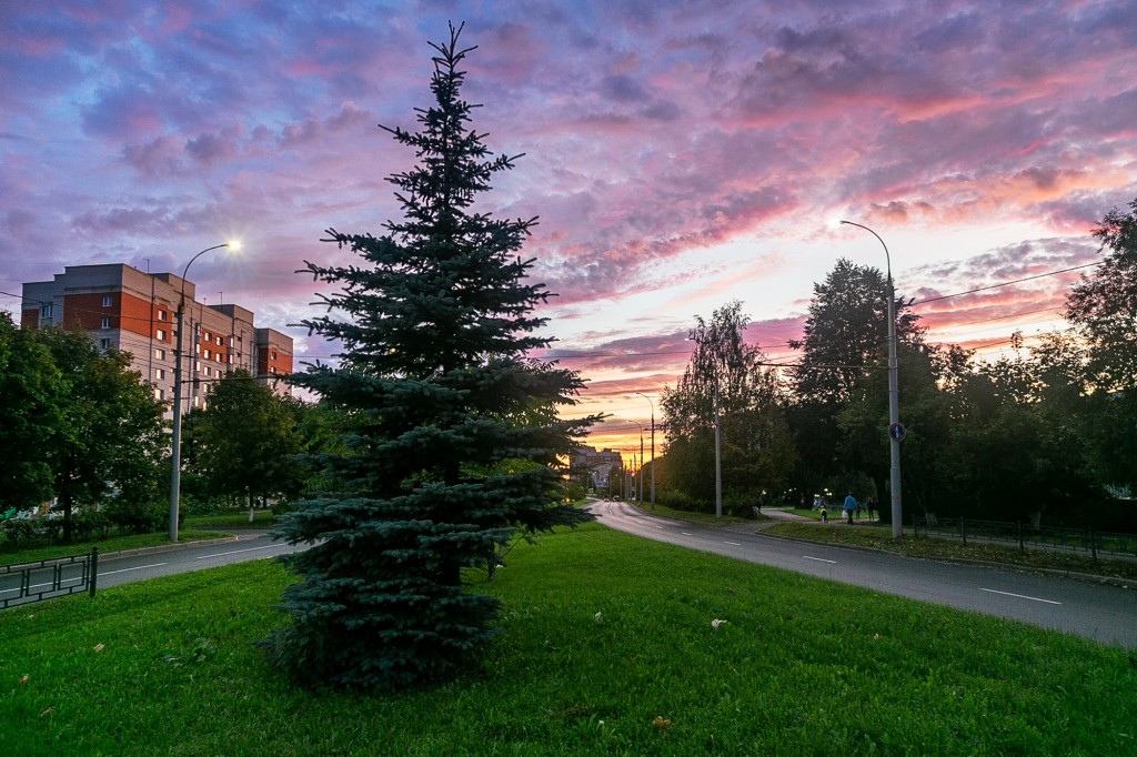 Невероятный закат во Владимире 02
