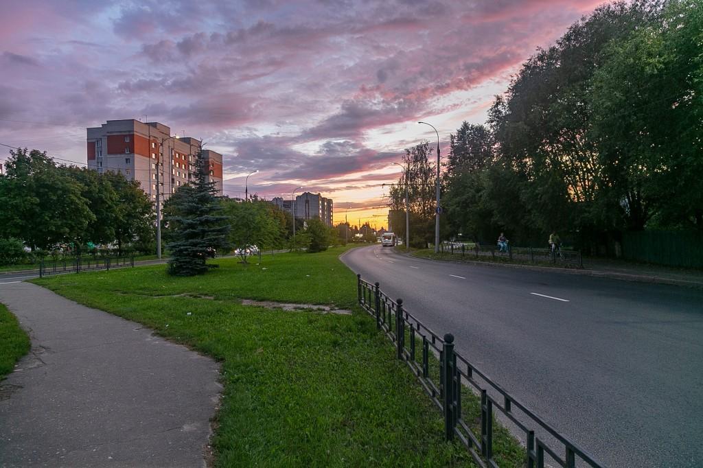Невероятный закат во Владимире 09