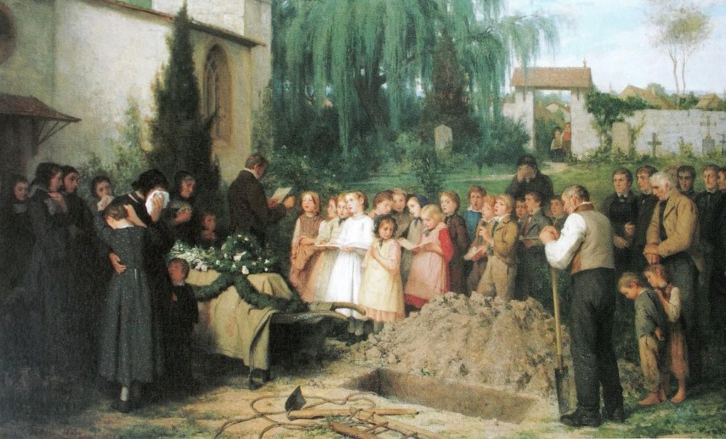 Альберт Анкер «Похороны ребёнка» (1863)