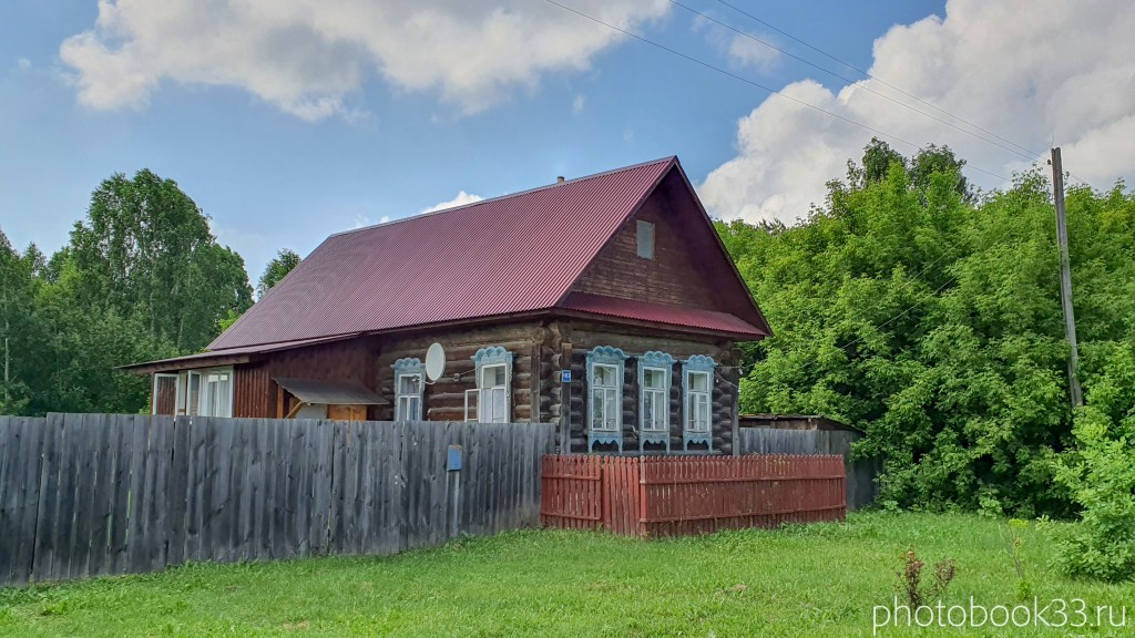 22 Деревянные дома в деревне Высоково, Меленковский район