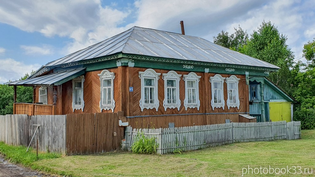 49 Деревянные дома села Урваново, Меленковский район