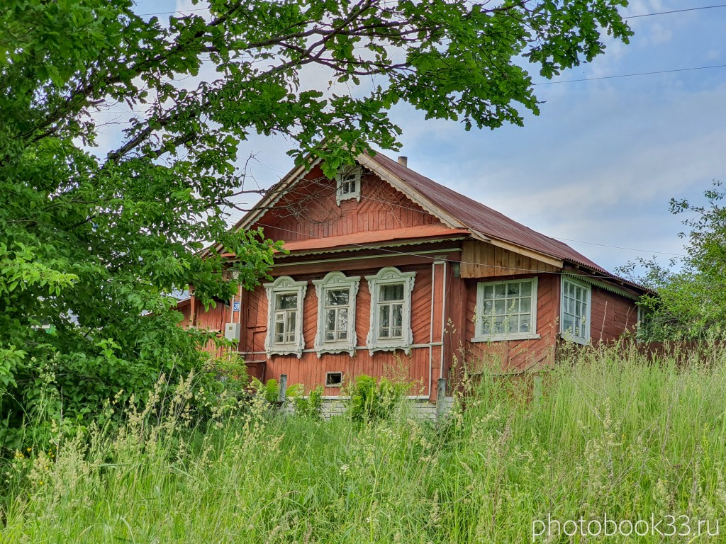 61 Деревянные дома в деревне Усад, Меленковский район