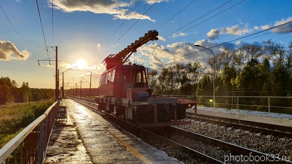 132 Поезд на жд станции о.п. 284 км, Лазарево