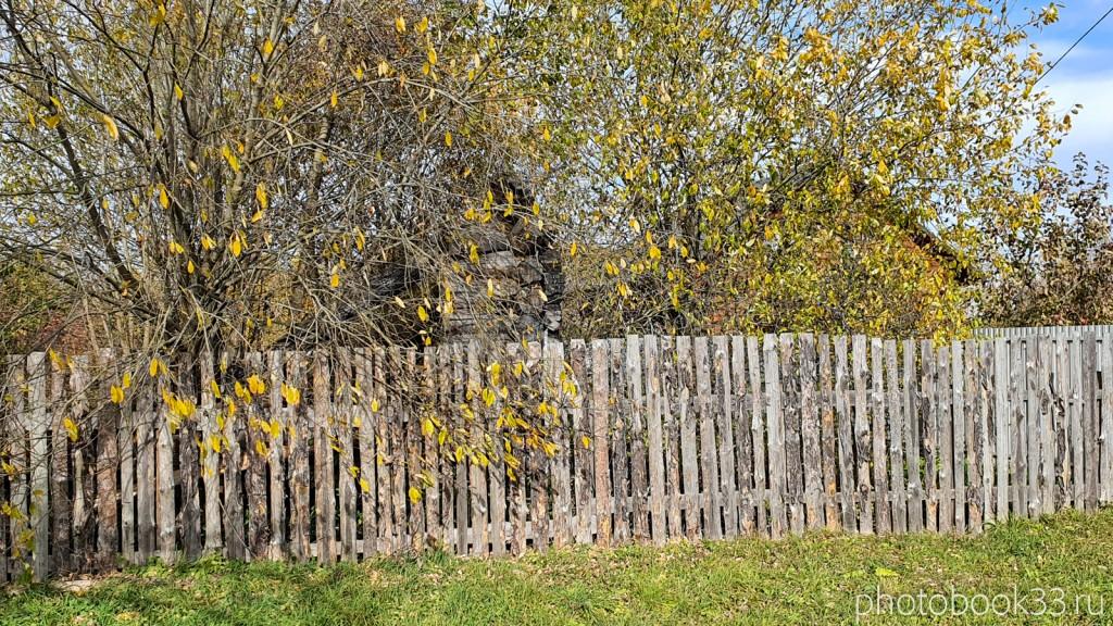 33 Дом скрытый за забором и деревьями в Кондаково