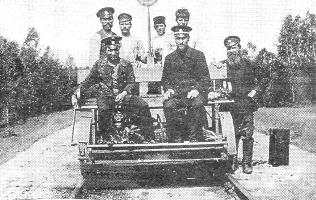 Дрезина на участке Бутылицы - Муром, 1911 год