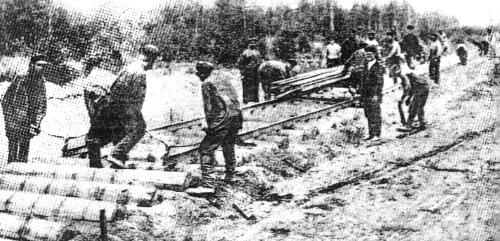 Строительство железной дороги через Бутылицы (Москва - Казань)