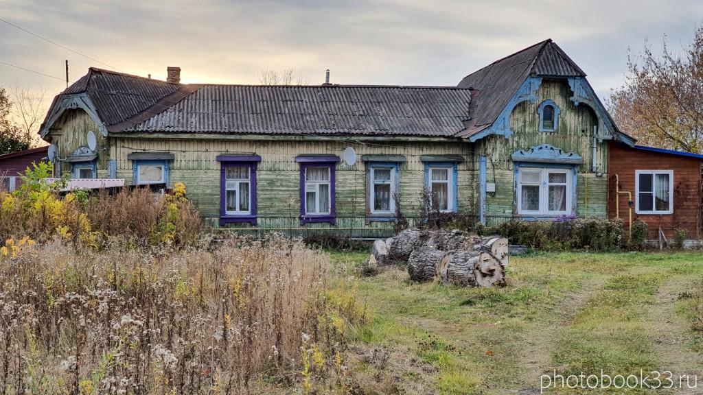 114 Старое деревянное здание в селе Бутылицы, Меленковский район