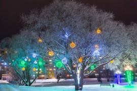 Город Владимир после наступления Нового Года 2021